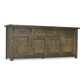 """Most Up To Date Solid Pine Industrial Wood Sideboard – Free Shipping Today Throughout Aneisa 70"""" Wide 6 Drawer Mango Wood Sideboards (View 3 of 30)"""
