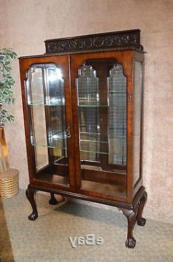 Most Up To Date Wood Accent Sideboards Buffet Serving Storage Cabinet With 4 Framed Glass Doors Inside Vintage/antique Traditional Style Carved Mahogany Two Door (View 30 of 30)