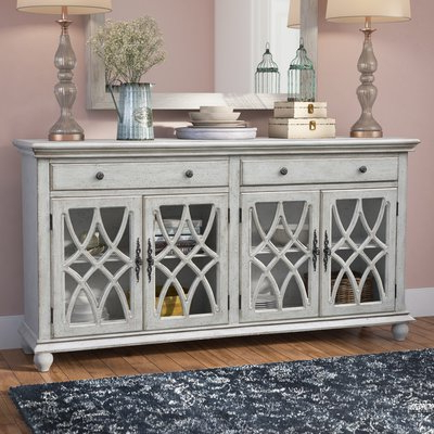 """Myndi 60"""" Wide Sideboards With Well Known Kelly Clarkson Home Adriana 72"""" Wide 2 Drawer Sideboard (View 9 of 30)"""