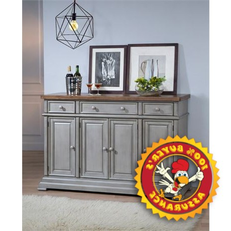 """Myndi 60"""" Wide Sideboards Within 2020 Winnola – Courtdale 60"""" Wide 3 Drawer Sideboard (View 4 of 30)"""
