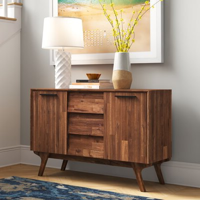 """Nahant 36"""" Wide 4 Drawer Sideboards In Fashionable Acacia Sideboards & Buffets You'll Love In (View 9 of 30)"""