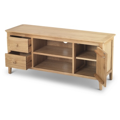 """Naomi 60.83"""" Wide Sideboards Intended For Well Liked Shaker Oak Wide Screen Tv Unit – Polands.co (View 20 of 30)"""