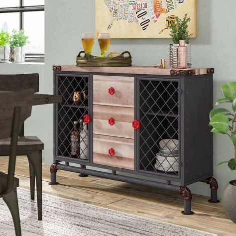 """Naomi 60.83"""" Wide Sideboards Regarding Well Liked Wyncote (View 15 of 30)"""
