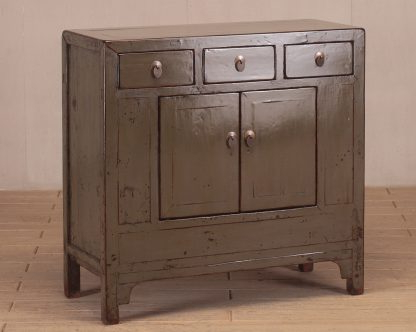 Newest 3 Drawer And 2 Door Cabinet With Metal Legs Inside Grey High Lacquer 3 Drawer & 2 Door Cabinet – Nookdeco (View 29 of 30)