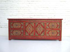 """Newest 76 Best Painted Oriental And Asian Furniture Images With Kinston 74"""" Wide 4 Drawer Pine Wood Sideboards (View 21 of 30)"""