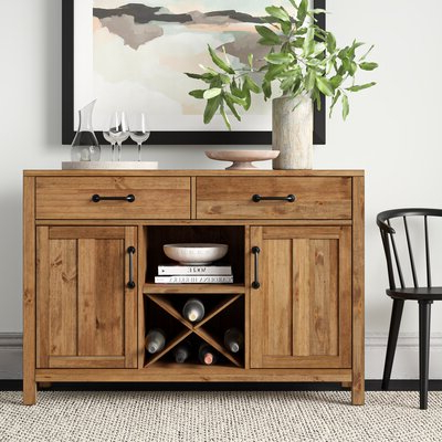 """Newest Bruin 56"""" Wide 2 Drawer Sideboards Within Sideboards & Buffet Tables (View 7 of 30)"""