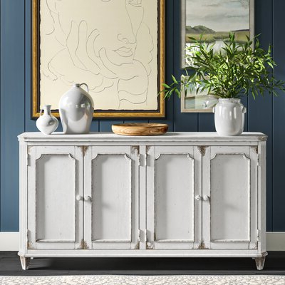 """Newest Farmhouse & Rustic Sideboard / Credenza Sideboards Inside Eskew 60"""" Wide Sideboards (View 16 of 30)"""