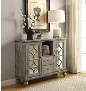 """Newest Frida 71"""" Wide 2 Drawer Sideboards Throughout Amazon – Knocbel Vintage Wood Console Table Buffet (View 22 of 30)"""