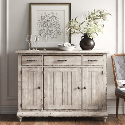 Newest Grey & White Sideboards & Buffets You'll Love In 2020 Within Chouchanik 46 Wide 4 Drawer Sideboards (View 12 of 30)