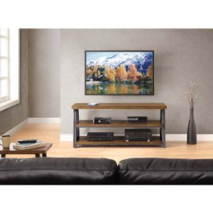 """Newest Lorraine Tv Stands For Tvs Up To 70"""" With Regard To Walmart: Whalen Furniture 3 In 1 Brown Tv Stand For Tvs Up (View 6 of 30)"""