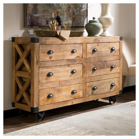 """Northwood 72"""" Wide Mango Wood Buffet Tables Pertaining To Well Known Server – Natural/black – Donny Osmond Home : Target (View 12 of 30)"""