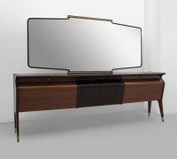 """Osvaldo Borsani – Un Buffet Con Specchiera, Anni 40 Intended For Well Known Francisca 40"""" Wide Maple Wood Sideboards (View 28 of 30)"""