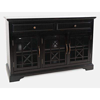 """Pandora 42"""" Wide 2 Drawer Servers With Regard To Latest Black Sideboards & Buffets You'll Love In  (View 19 of 30)"""