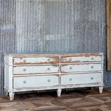 Park Credenzas Inside Well Known Park Hill Painted Credenza – Iron Accents (View 13 of 30)