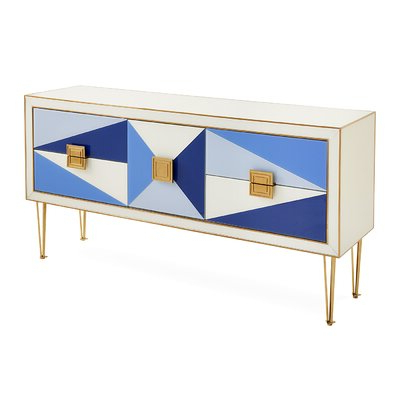 """Perigold Throughout Aneisa 70"""" Wide 6 Drawer Mango Wood Sideboards (View 20 of 30)"""