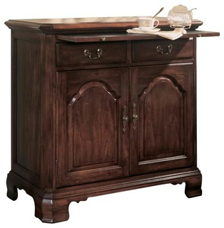 Popular American Drew Cherry Grove Server In Antique Cherry Within Orner Traditional Wood Sideboards (View 6 of 30)