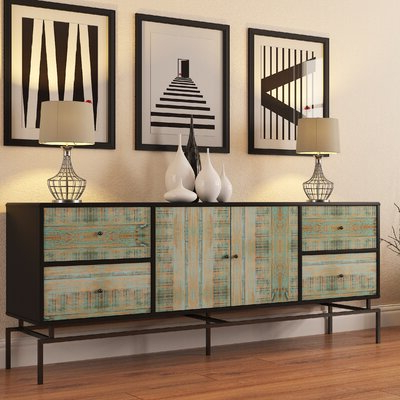 """Popular Fugate 48"""" Wide 4 Drawer Credenzas Throughout Blue & Green Sideboards & Buffets You'll Love In (View 24 of 30)"""