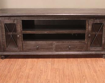"""Popular Kidham 68"""" Wide Sideboards Throughout Rustic Solid Reclaimed Wood 68 Inch Tv Stand Media (View 3 of 30)"""