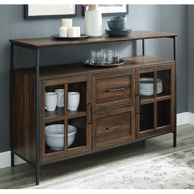 "Popular Kinston 74"" Wide 4 Drawer Pine Wood Sideboards Regarding Breakfast Buffet Table (View 8 of 30)"