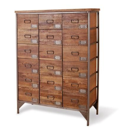 """Preferred Apothecary Chest From Bluebone Industrial Living With Regard To Aneisa 70"""" Wide 6 Drawer Mango Wood Sideboards (View 28 of 30)"""