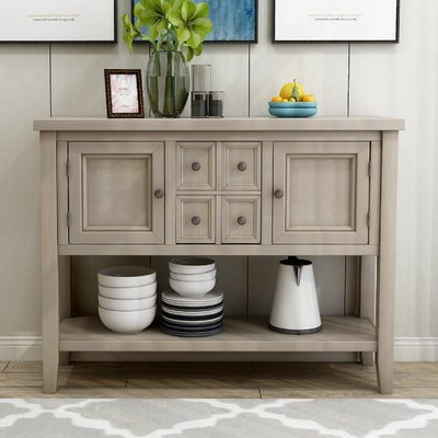 """Preferred Grey & White Sideboards & Buffets You'll Love In 2020 Throughout Lorraine 48"""" Wide 2 Drawer Acacia Wood Drawer Servers (View 14 of 30)"""