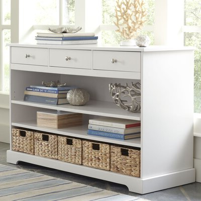 """Preferred Isra 56"""" Wide 3 Drawer Sideboards Intended For White Sideboards & Buffets You'll Love In (View 20 of 30)"""
