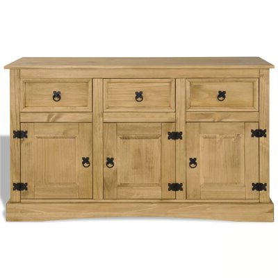 """Preferred Kinston 74"""" Wide 4 Drawer Pine Wood Sideboards Intended For Sideboards & Buffet Tables You'll Love In (View 3 of 30)"""