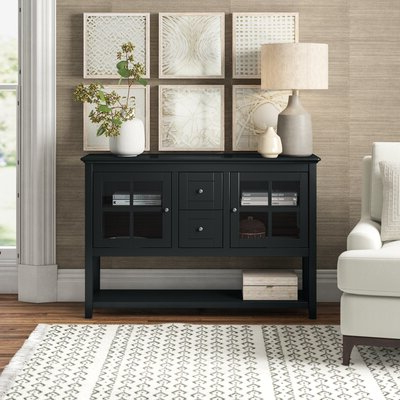 """Preferred Pandora 42"""" Wide 2 Drawer Servers Inside Sideboards & Buffet Tables (View 11 of 30)"""