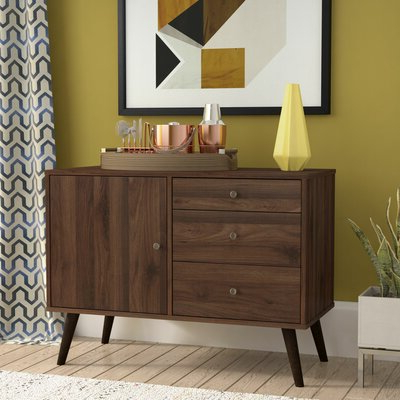 """Preferred Rustic & Farmhouse Sideboards, Buffets & Buffet Tables You Within Fritch 58"""" Wide Sideboards (View 7 of 30)"""