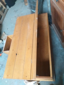"""Preferred Second Hand Bedroom Dressers & Chest Of Drawers For Sale Within Kinston 74"""" Wide 4 Drawer Pine Wood Sideboards (View 27 of 30)"""