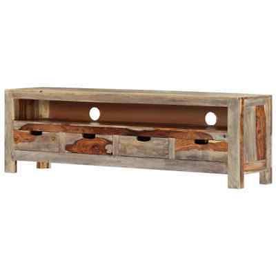 "Preferred Vidaxl Solid Sheesham Wood Tv Cabinet Sturdy 51.1"" Tv With Tarakan  (View 20 of 30)"