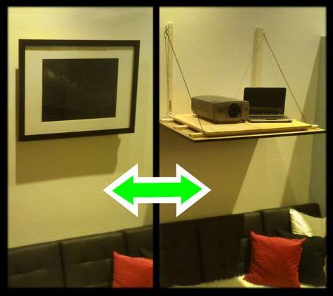 Projector Shelf, Projector, Diy With Regard To Popular Keeney Sideboards (View 24 of 30)
