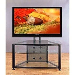 """Quillen Tv Stands For Tvs Up To 43"""" Inside Most Recent Amazon: Flat Panel Tv Cart 43"""" Tv Stand Frame: Silver (View 5 of 30)"""
