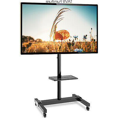 """Quillen Tv Stands For Tvs Up To 43"""" Pertaining To Latest Mobile Tv Stand For 32 37 43 47 50 55 60 65 70 Inch Lcdled (View 28 of 30)"""