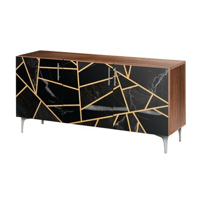 Rayden Sideboards Inside Most Recently Released Chrome & Silver Sideboards & Buffets You'll Love In (View 13 of 30)