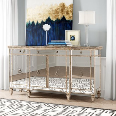 Rayden Sideboards Pertaining To Fashionable Silver Sideboards & Buffets You'll Love In (View 12 of 30)