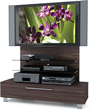 """Recent Amazon: Sonax Contemporary Ebony Pecan Hybrid Tv Stand Inside Mainor Tv Stands For Tvs Up To 70"""" (View 16 of 30)"""