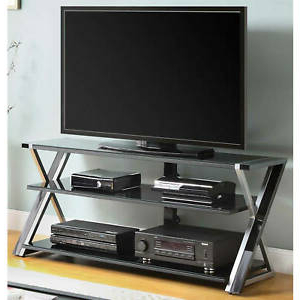 """Recent Dallas Tv Stands For Tvs Up To 65"""" Within Tv Stand For 65 Inch Flat Panel Tvs With Tempered Glass (View 20 of 30)"""