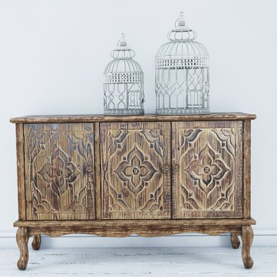 """Recent Distressed Finish Sideboards & Buffets You'll Love In 2020 With Regard To Electra 46"""" Wide 4 Drawer Acacia Wood Buffet Tables (View 20 of 30)"""