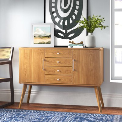 """Recent Thame 70"""" Wide 4 Drawers Pine Wood Sideboards Within Kitchen Sideboard Cabinets (View 6 of 30)"""