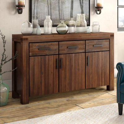 """Reclaimed Wood Sideboards & Buffets You'll Love In 2020 With Regard To Trendy Caila 60"""" Wide 3 Drawer Sideboards (View 9 of 30)"""