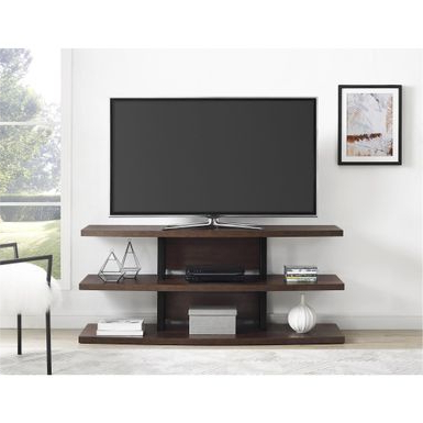"""Rent To Own Ameriwood Home Castling Espresso/ Black Tv Regarding Most Popular Quillen Tv Stands For Tvs Up To 43"""" (View 19 of 30)"""