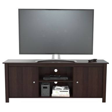 """Rent To Own Inval 60 Inch Espresso Tv Stand – Espresso With Fashionable Avenir Tv Stands For Tvs Up To 60"""" (View 3 of 30)"""