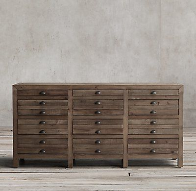 """Rh's Printmaker's Sideboard:inspireda Newspaper Pertaining To Most Popular Grieg 42"""" Wide Sideboards (View 13 of 30)"""