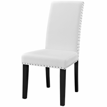 Richawara Concise Buffet Tables Intended For Preferred Modway Parcel Dining Faux Leather Side Chair In White My (View 4 of 30)