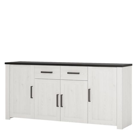 """Sandweiler 54"""" Wide 2 Drawer Sideboards With Latest Provence 4 Door 2 Drawer Extra Wide Sideboard (View 25 of 30)"""