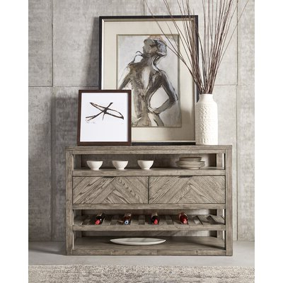 """Sandweiler 54"""" Wide 2 Drawer Sideboards With Regard To Most Recent Foundry Select Kittleson 56'' Wide 2 Drawer Buffet Table (View 21 of 30)"""