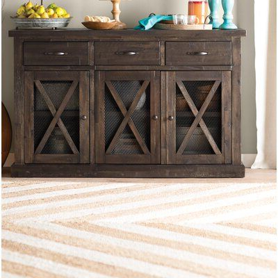 """Sandweiler 54"""" Wide 2 Drawer Sideboards Within Popular Laurel Foundry Modern Farmhouse Colborne 58"""" Wide 3 Drawer (View 19 of 30)"""