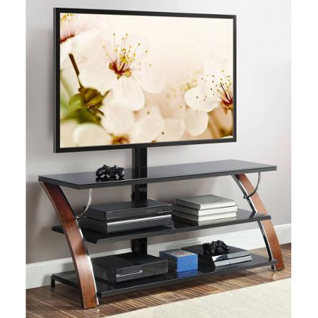 """Save $80 On Whalen Brown Flat Panel Tv Stand At Wal Mart Throughout Trendy Shilo Tv Stands For Tvs Up To 65"""" (View 4 of 30)"""