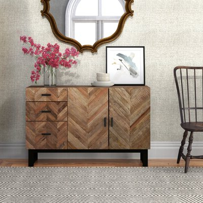 """Searsport 48"""" Wide 4 Drawer Buffet Tables Within Newest Brown Sideboards & Buffets (View 4 of 30)"""